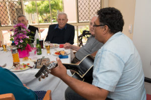 Guitar aged care